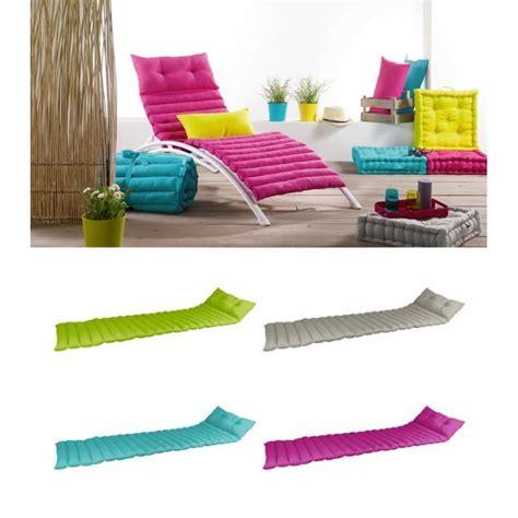 coussin pour chaise longue pas cher matelas pour chaise longue de jardin ziloo fr