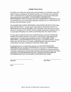 liability insurance liability insurance waiver template With waiver of responsibility template