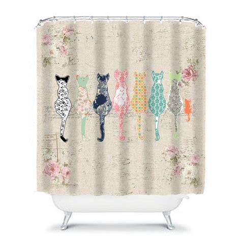 cat shower curtain cat shower curtain shabby chic shower curtain cats shower
