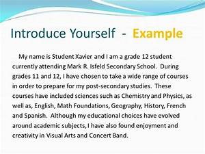 how to get introduce yourself essay sample news With template for introducing yourself