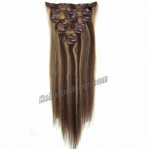 30 Inch 427 BrownBlonde Clip In Remy Human Hair