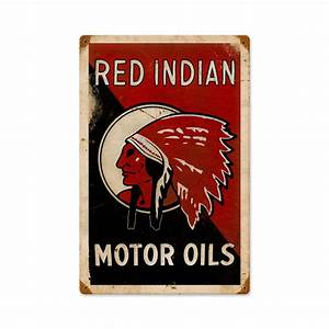 Deco Americaine Vintage : plaque publicitaire americaine vintage red indian oil deco americaine goodies ~ Preciouscoupons.com Idées de Décoration