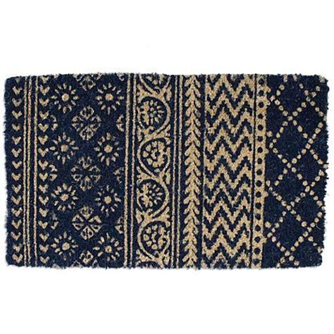 tag coir doormat tag coir door mat in indigo bed bath beyond
