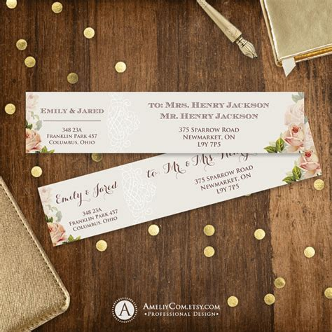 rustic address labels printable instant  neutral