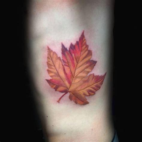 maple leaf tattoo designs  men canadian