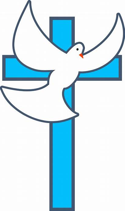 Dove Clipart Baptism Clip Cross Vector Symbols
