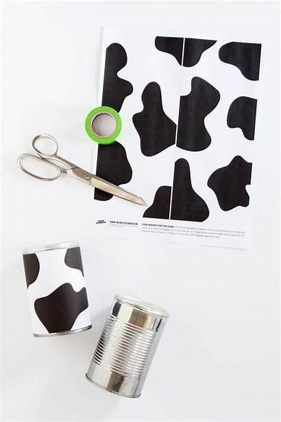 Cow Printable Tin Wraps