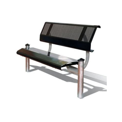 Seating Bench by Mecure Steel Seat Bench