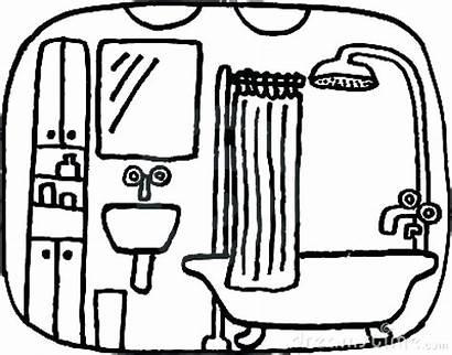 Bathroom Clipart Drawing Bath Vector Clipartmag