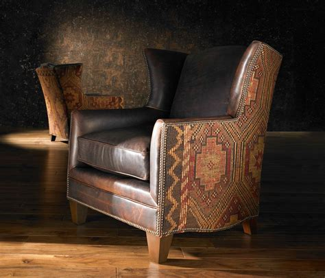 Leather Furniture Upholstery by Southwest Style Leather Santa Fe Upholstery Design Chair
