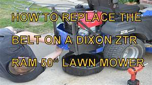 How To Replace The Mule Belt On A Dixon Ram 50 Zero Turn