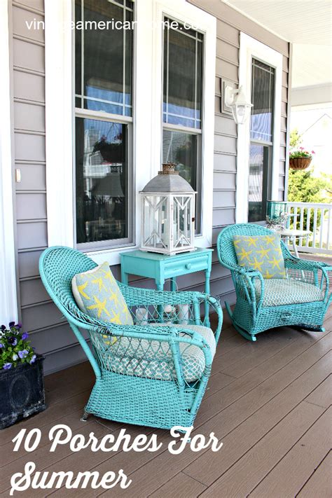 front porch decorating ideas vintage american home