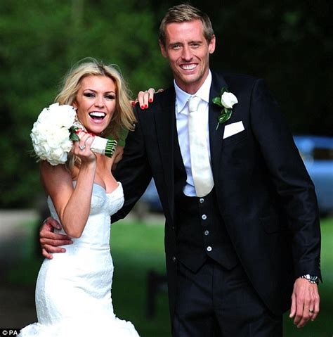 abbey clancy marries peter crouch  giles deacon wedding dress daily mail