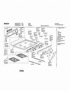 Bosch Freestanding Range Parts