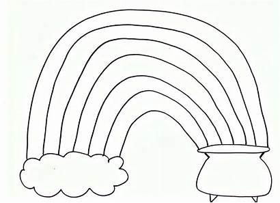 Rainbow Printable Coloring St Pom Pages Pot