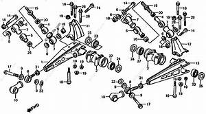 Honda Atv 1985 Oem Parts Diagram For Rear Swingarm