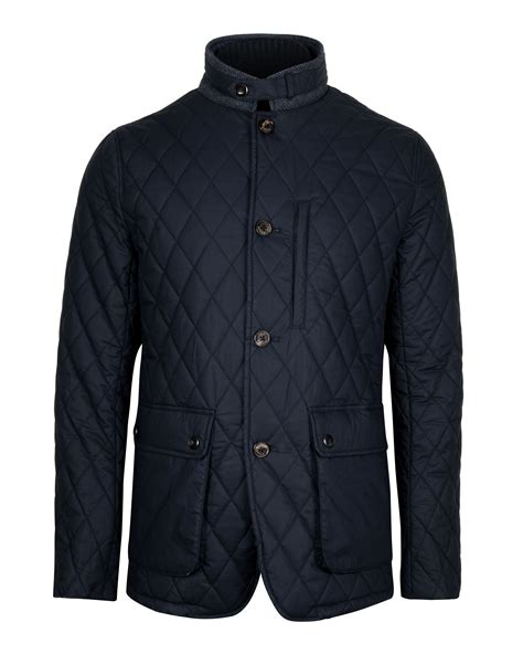 ted baker quilted jacket lyst ted baker garyen quilted jacket in black for