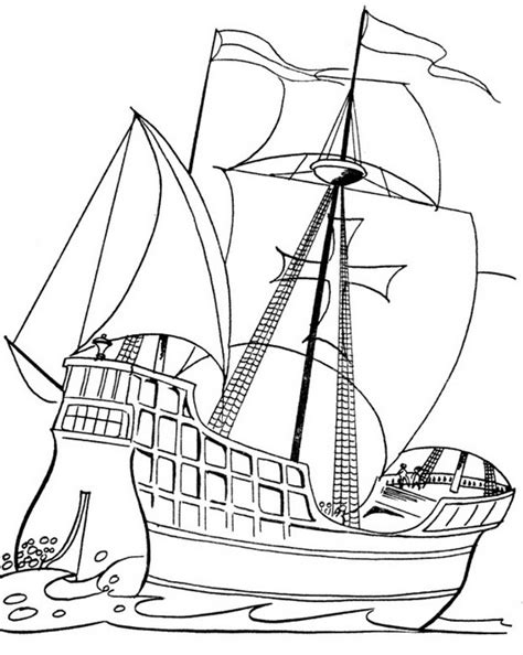 columbus day ships coloring pages family holidaynetguide  family holidays   internet