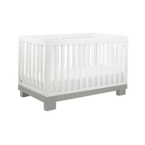 grey and white crib babyletto modo 3 in 1 convertible crib in grey and white