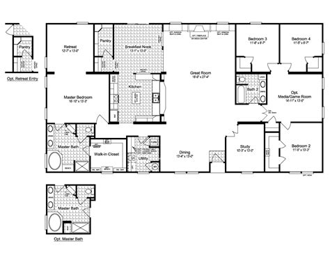 a floor plan of your house the evolution vr41764c manufactured home floor plan or