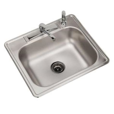 home depot kitchen sinks top mount elkay all in one top mount stainless steel 25 in 4 8405