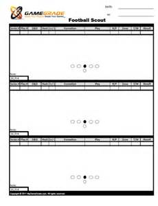 Play Call Sheet Template Football Scout Sheets