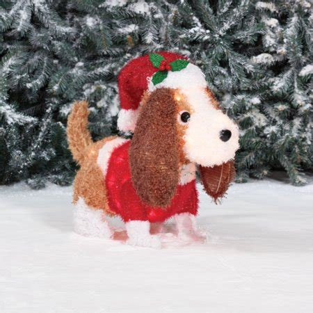 holiday time light  fluffy spaniel christmas