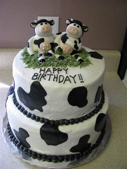 Cow Cake Cakes Birthday Happy Themed Decoration