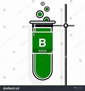 Boron Symbol On Label Green Test Stock Vector 518974360
