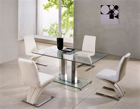 Kitchen Table Sets Glass by Savio Small Glass Chrome Dining Room Table 4 Z Chairs