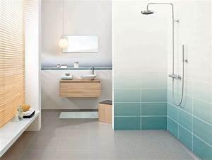 stunning faience salle de bain couleur contemporary With idee couleur salle de bain