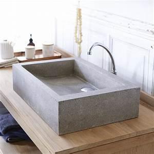 Waschbecken 60 X 60 : waschbecken terrazzo pegase 60 grey tikamoon ~ Indierocktalk.com Haus und Dekorationen