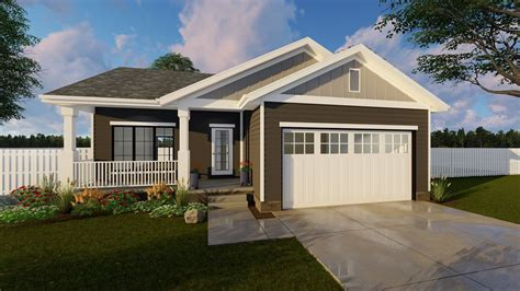 1 Story Craftsman House Plan   Alure