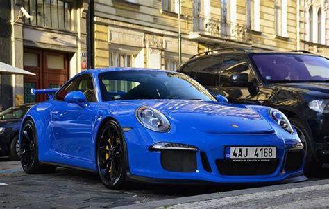 porsche blue gt3 blue porsche 991 gt3 spotted in czech republic