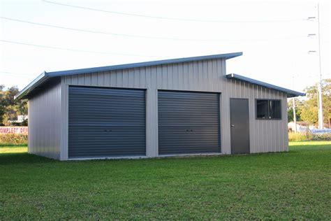 level house plans skillion roof sheds and garages ranbuild