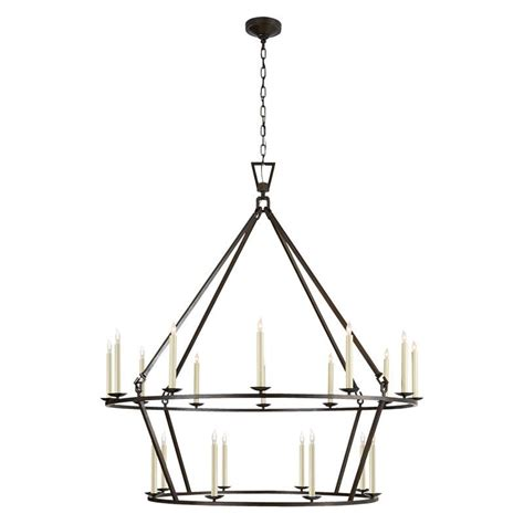 Two Tier Chandelier by Darlana Two Tiered Ring Chandelier Mcgee Co