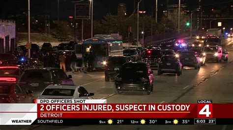 detroit police officers shot wednesday night suspect
