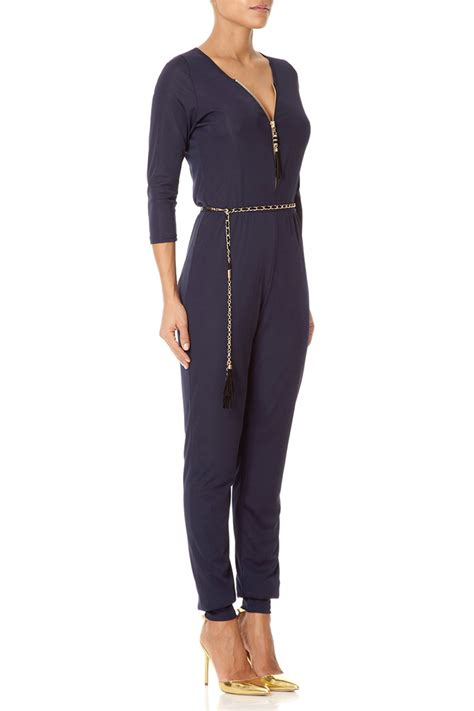 navy jumpsuit forever unique lorraine navy jumpsuit with sleeves and