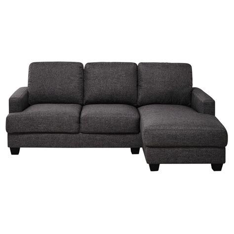 canapé d angle 3 places canapé d 39 angle droit 3 4 places en tissu gris chiné