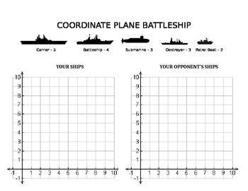 Coordinate Plane Battleship By Dude In The Classroom Tpt