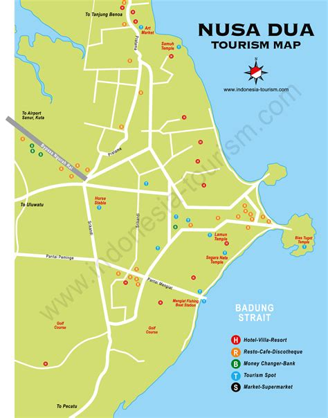peta wisata bali lengkap paintai kuta bali