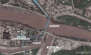 Sidhnai Barrage Showing Main Barrage And Offtake Canals Data Provided