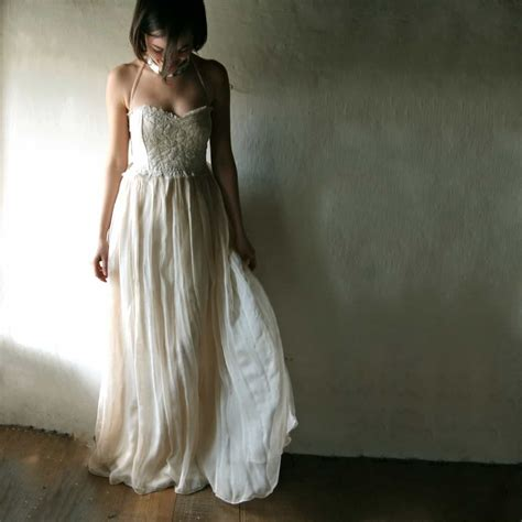 Rustic Boho Wedding Dress For Outdoor Beach Weddings