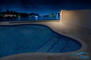 glowing in the dark glass tile pool modern outdoor