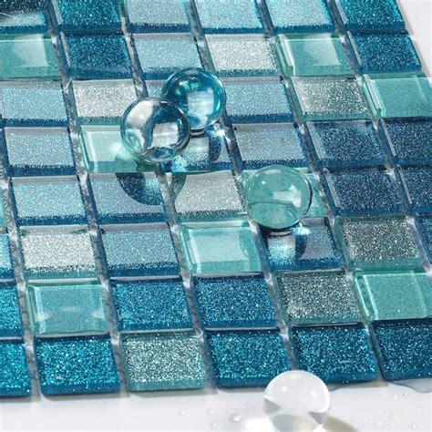 square glass tiles square glass tile bathroom powder mosaic patterns washroom wall blue