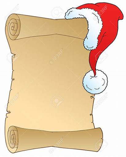 Scroll Christmas Clipart Hat Blank Wish Background