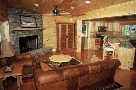 small log cabin kitchen ideas