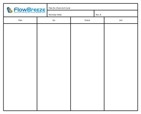 pdca excel template ourclipart