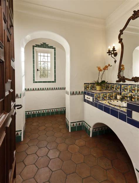 Spanish Tile Bathroom  Tile Design Ideas