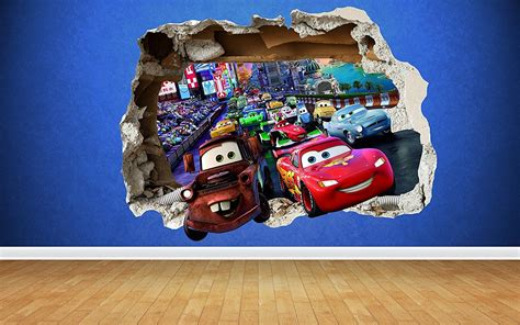 Kinderzimmer Wandgestaltung Disney by Autozimmer Disney Cars Wandtattoo F 252 R Das Kinderzimmer